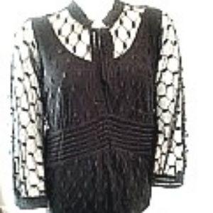 Alfani Black Lace Tunic Top Size 2X